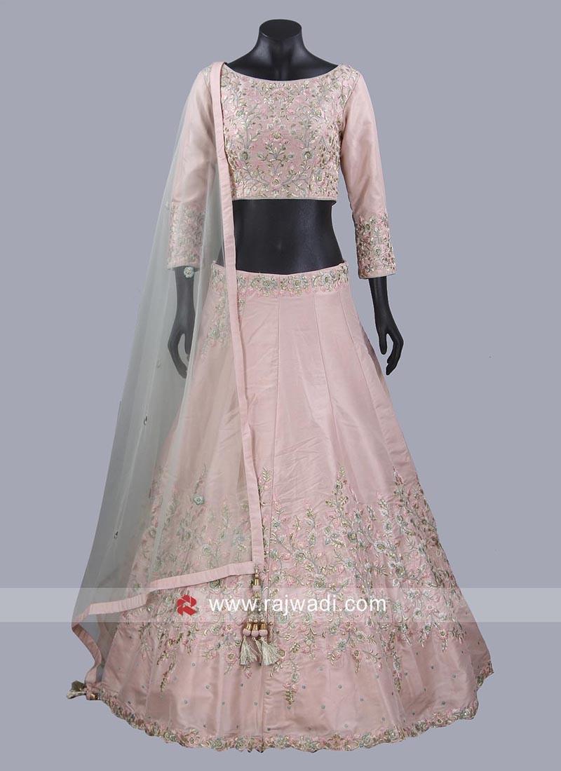 Light Pink Embroidered Lehenga Set
