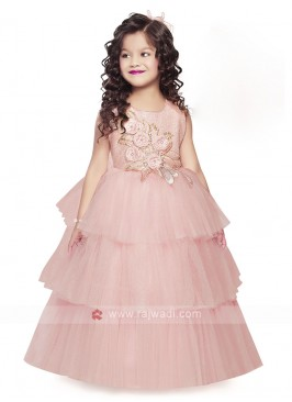 Light Pink gown For Girls