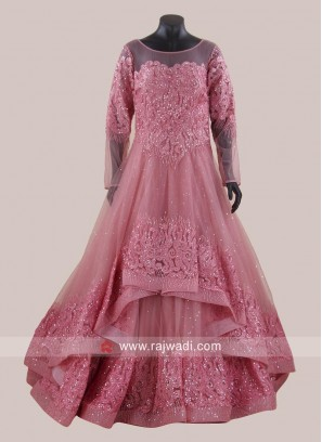 Light Pink Handkerchief Layer Gown
