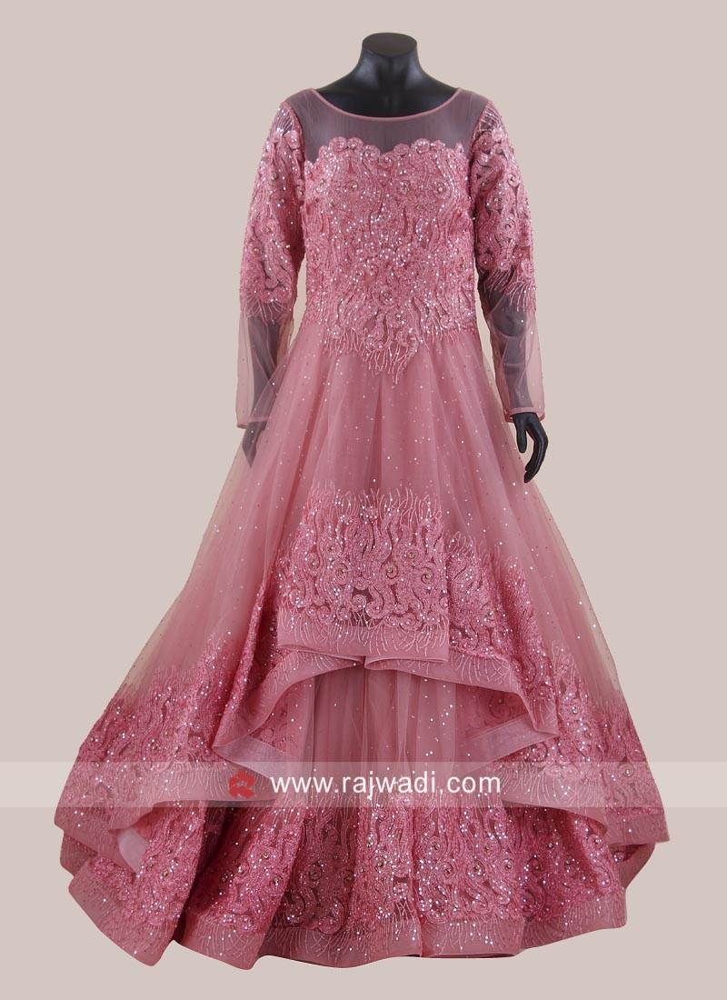 Light Pink Handkerchief Layer Gown