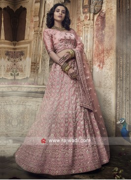 Light Pink Heavy Embroidery Lehenga Choli