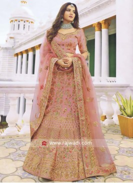 Light Pink Heavy Work Lehenga Choli