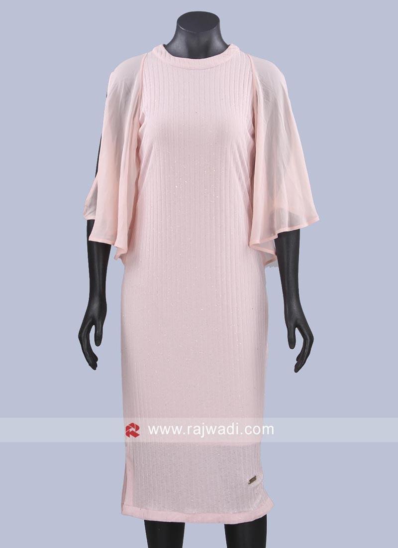 Light Pink Hosiery Short Dress
