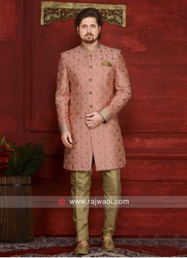 Light Pink Indo Western For Wedding