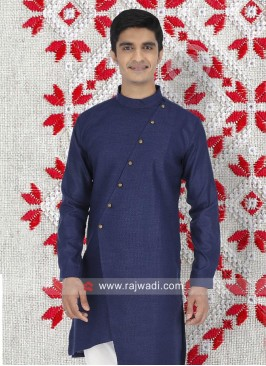 Blue Cotton Fabric Kurta