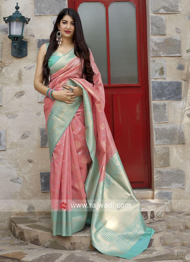 Light Pink Weaving Saree
