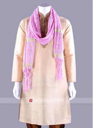 Light Pink Zari Embellished Dupatta