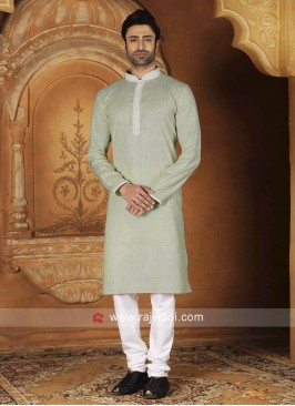 Light Pista Color Kurta Pajama