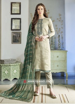 Light Pista Color Salwar Suit
