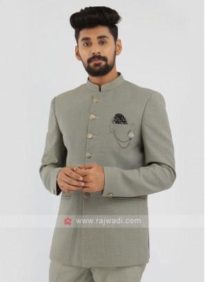 Light Pista Green Jodhpuri Suit