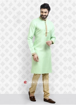 Light Pista Kurta Pajama