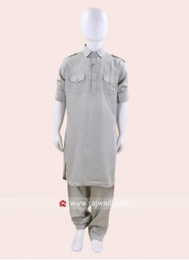 Light Grey Pathani Set