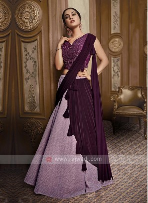Light Purple Lycra Lehenga Choli