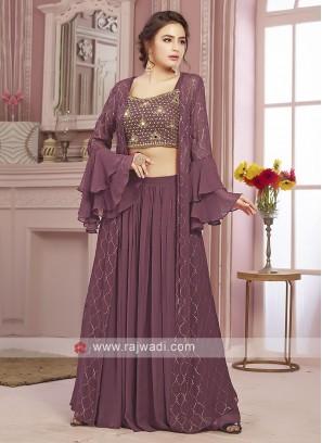 Light purple palazzo suit