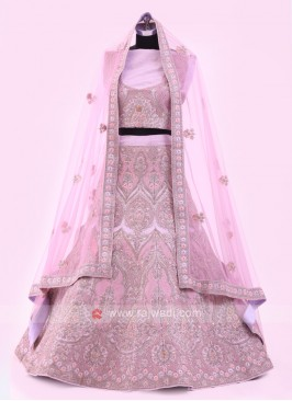 Light Purple Silk Lehenga Choli