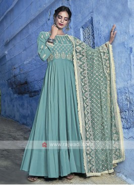 Light Sea Green Anarkali Suits