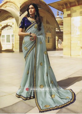 Light Sea Green Heavy Wedding Saree