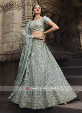 Light Sea Green Unstitched Lehenga Choli
