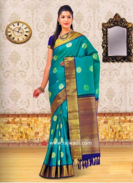 Light Sea Green Weaved Saree