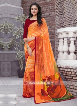 Light Weight Casual Printed Saree