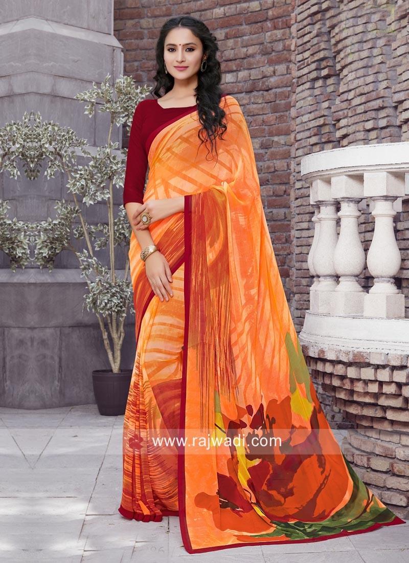 Light Weight Casual Printed Saree