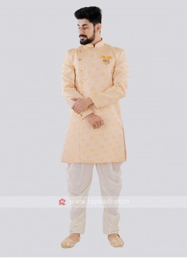 Light Yellow And Off White Indo Western