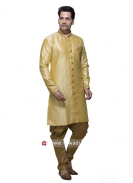 Light Yellow Art Silk Patiala Set