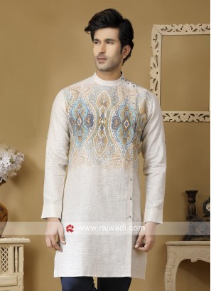 Off White Color Kurta For mens