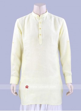 Light Yellow Color Kurta For mens