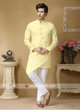 Light Yellow Color Kurta Set For Sangeet