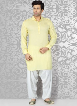 Light Yellow Pathani Suit