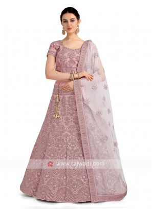 Lilac Color Lehenga Choli