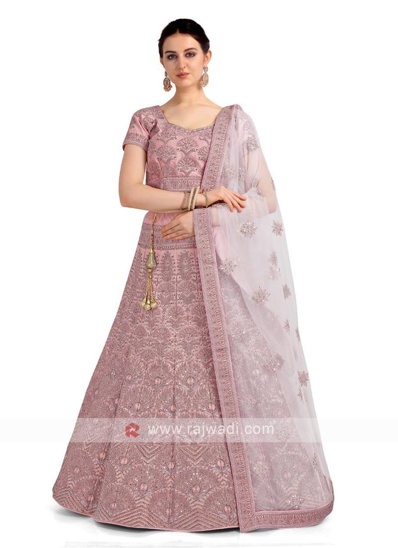 Lilac Color Lehenga Choli