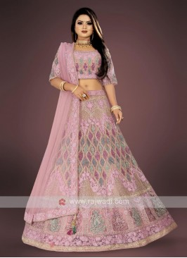 lilac color lehenga choli suit