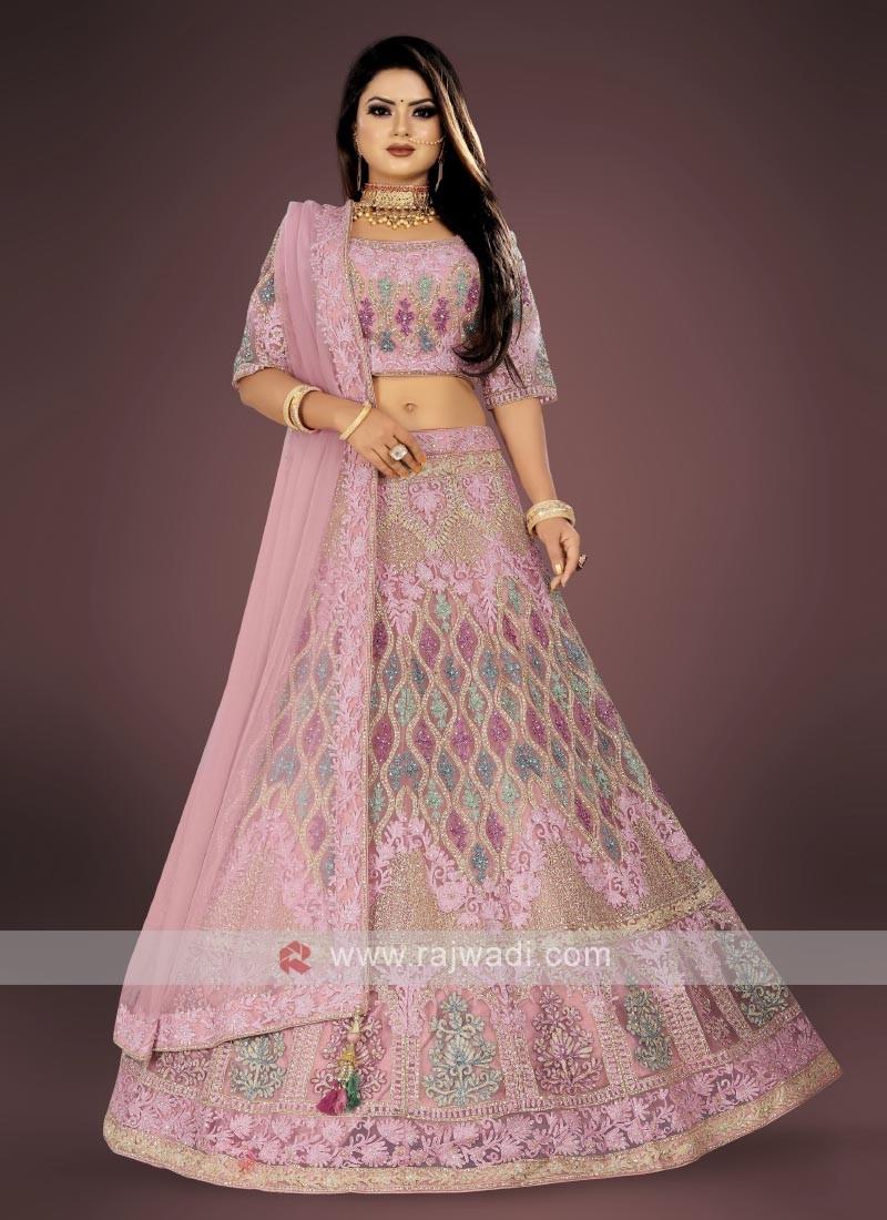 lilac color lehenga choli suit