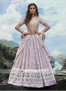 Lilac Color Lehenga Choli With Dupatta