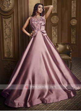 Lilac color stylish gown