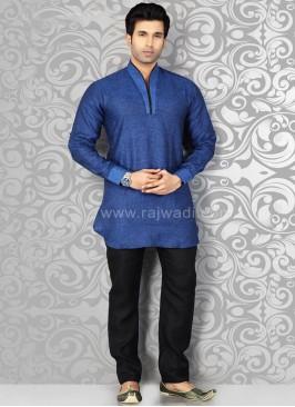 Linen Blue Kurta Pajama