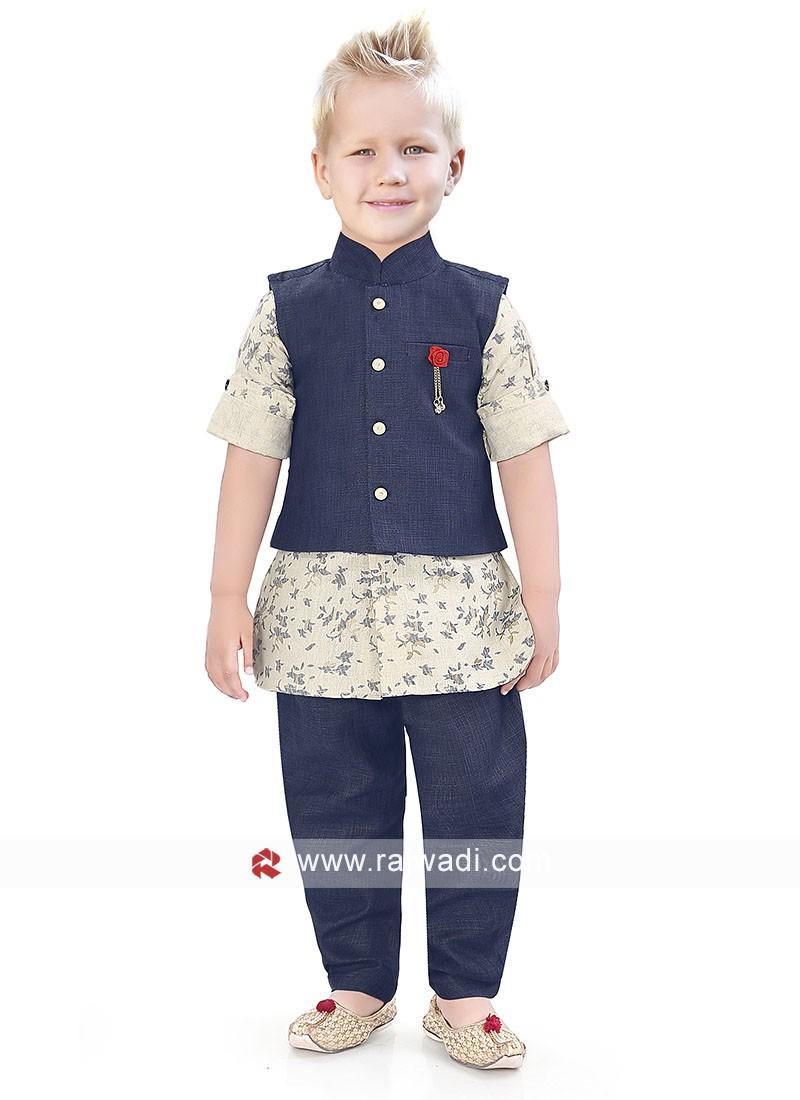 Linen Boys Nehru jacket For Wedding