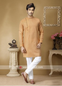 Linen Casual Kurta Set