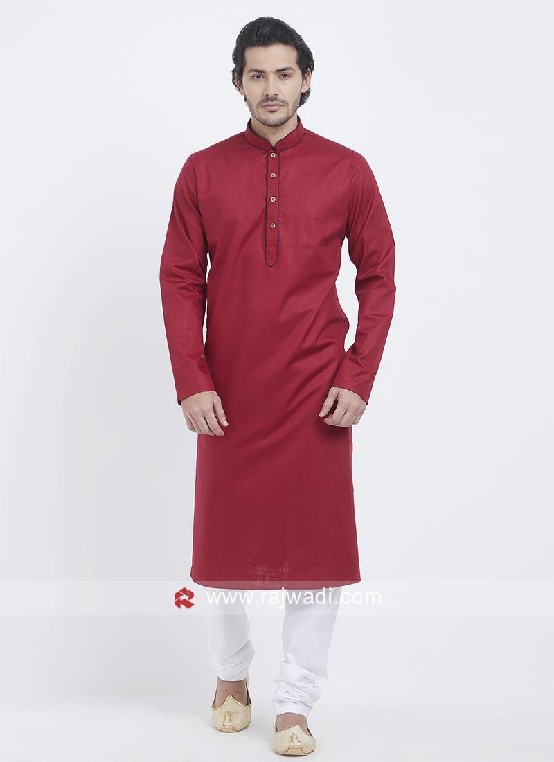 Linen Cotton Fabric Kurta Set