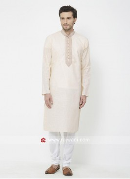 Linen Cotton Fabric Mens kurta Pajama