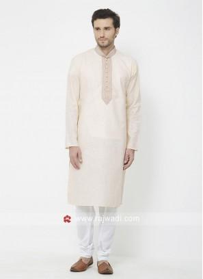 Linen Cotton Fabric Mens kurta Pajama