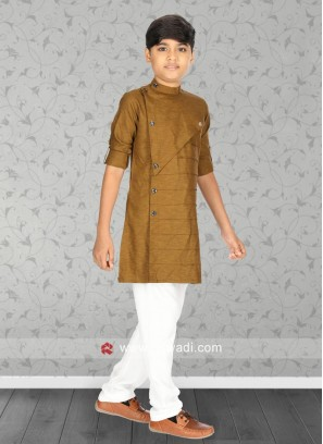 Cotton Fabric Coffee Kurta Pajama