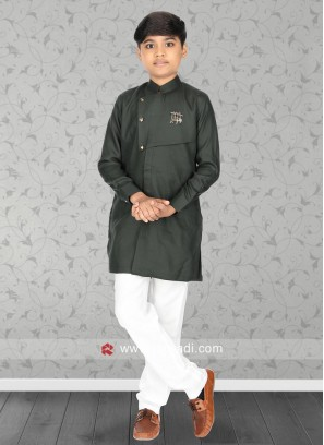 Charming Green Color Kurta Set