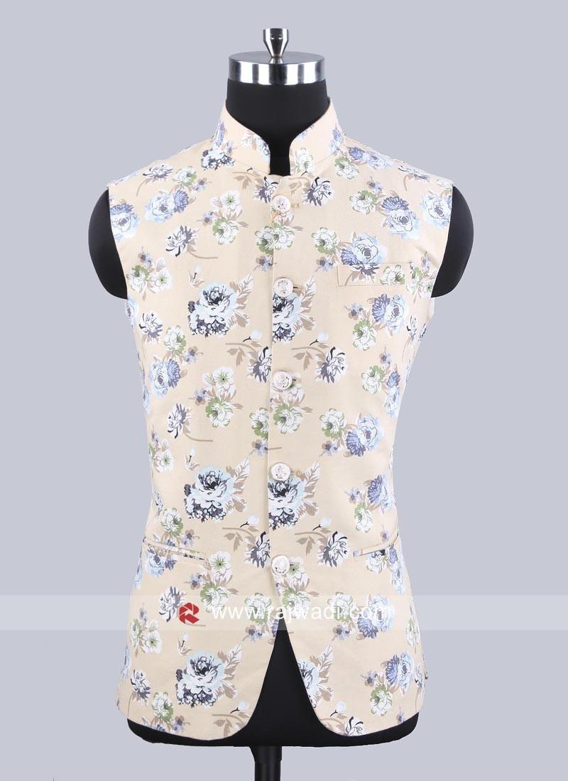 Linen Fabric Koti In Cream Color