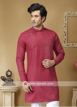 Linen Fabric Kurta For Mens