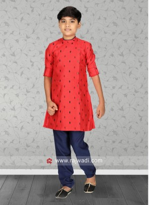 Stylish Rust Color Kurta Set