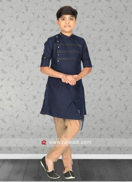 Blue Color Party Wear Kurta Pajama