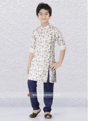 Linen Fabric Kurta Set For Boys